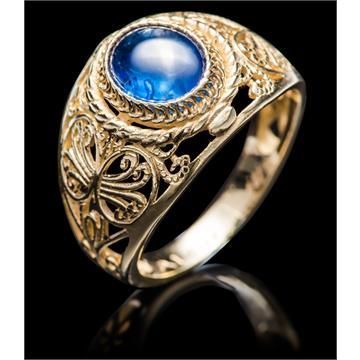 טבעת ספיר כחול