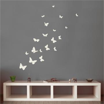 מדבקת קיר פרפרים     butterfly