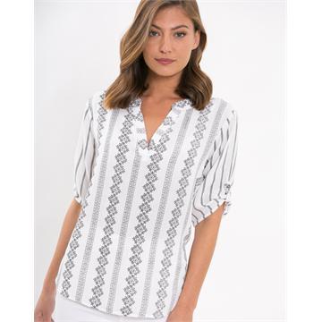 חולצת פשתן מודפס
