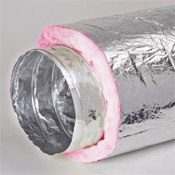 תעלה גמישה למיזוג אוויר עם בידוד צמר מינרלי