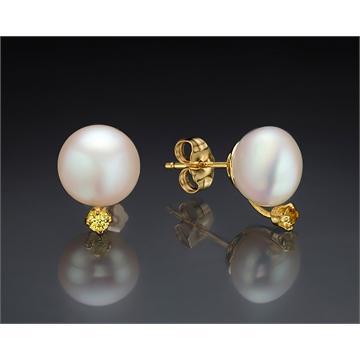 Sapphire & Pearls Studs