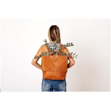 תיק גב לאישה מעור איכותי  דגם מסנג'ר