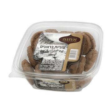 עוגיות בראוניס עם שוקולד צ'יפס במגש 400 גרם