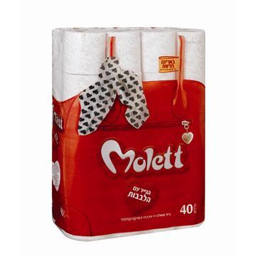 נייר טואלט מולט באריזת 40 גלילים