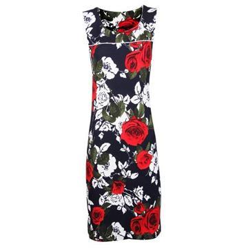 שמלה הדפסים ורד