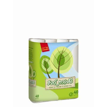 נייר טואלט שמורת טבע באריזת 40 גלילים