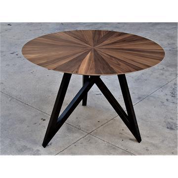 שמש - שולחן אוכל מעוצב בפורניר עץ טבעי