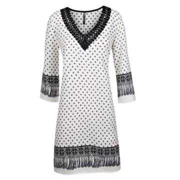 שמלה גלביה מחשוף קרושה