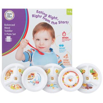 Balanced Meal Toddler 5 Plates Set