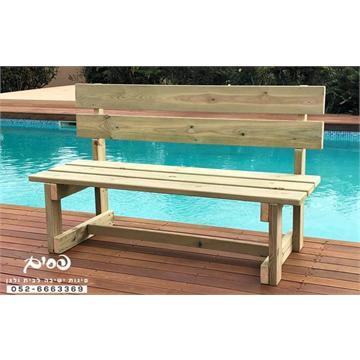 ספסל עץ דגם אורן